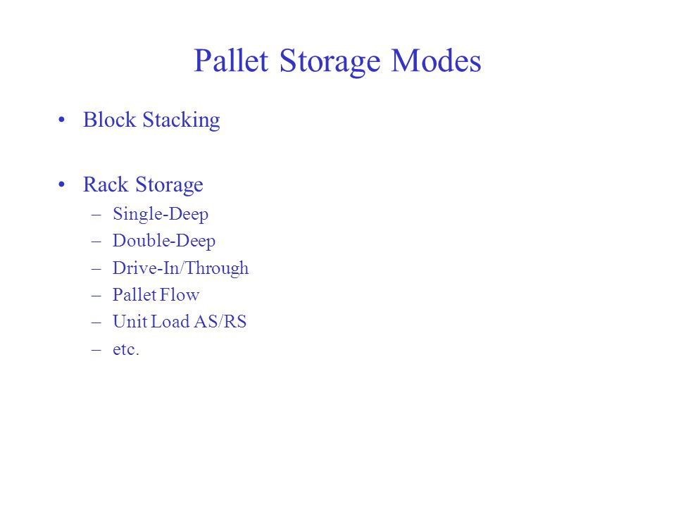 Pallet Storage Modes Block Stacking Rack Storage Single-Deep