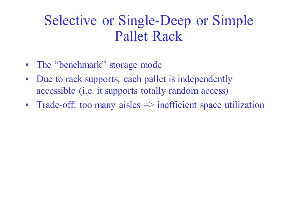 Selective or Single-Deep or Simple Pallet Rack
