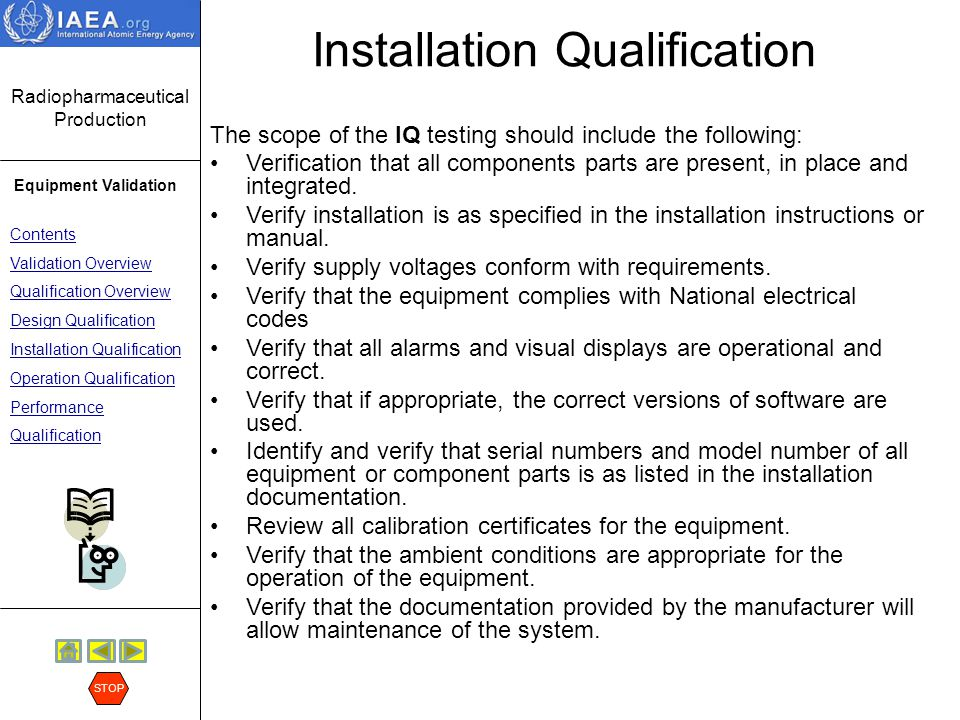 Installation Qualification