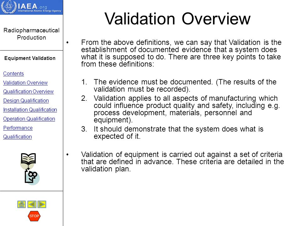 Validation Overview