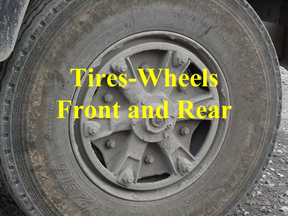 Tires-Wheels Front and Rear