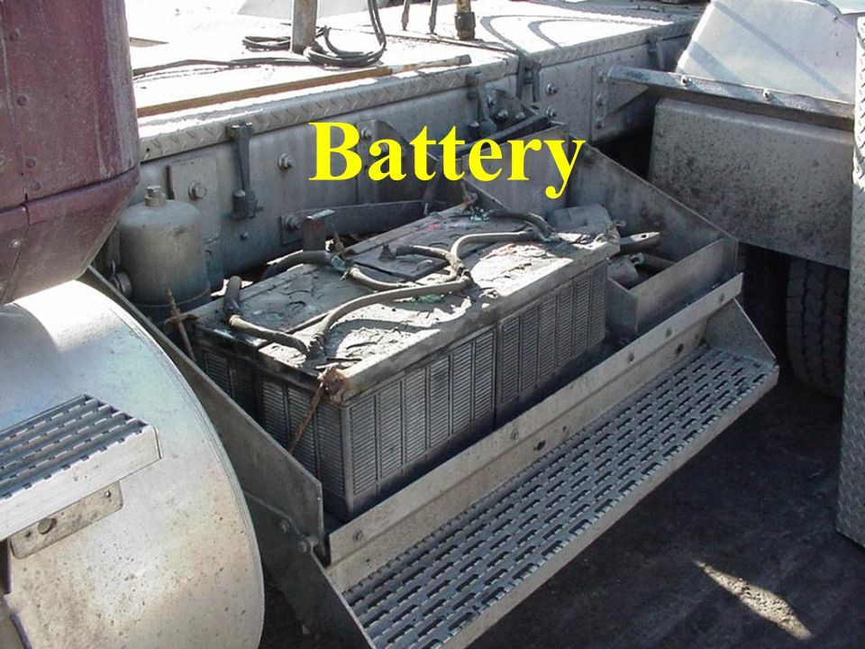 Battery Insure that batteries are secured and in their proper location.