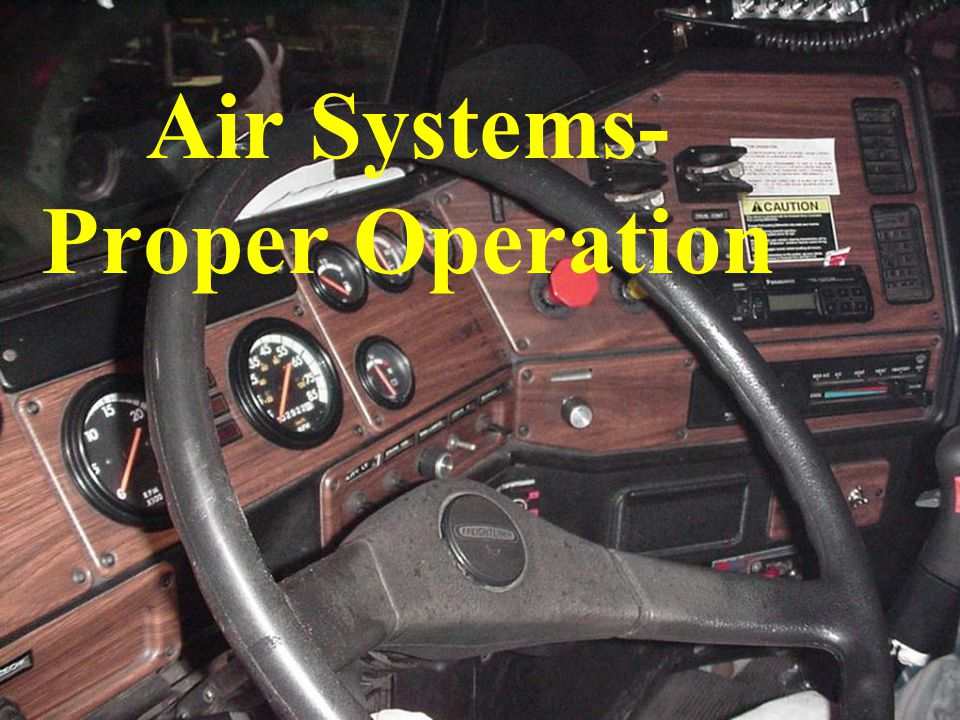 Air Systems-Proper Operation