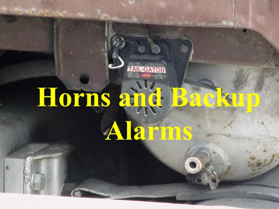 Horns and Backup Alarms
