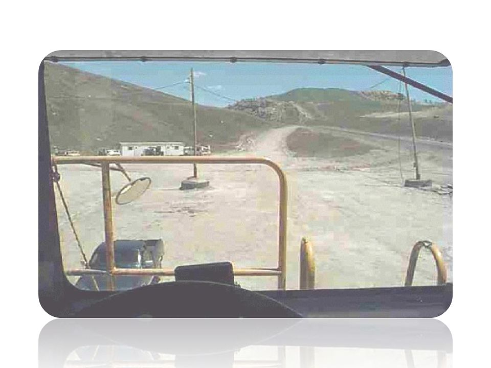 Here is a view from the driver's seat of a 240-ton haul truck