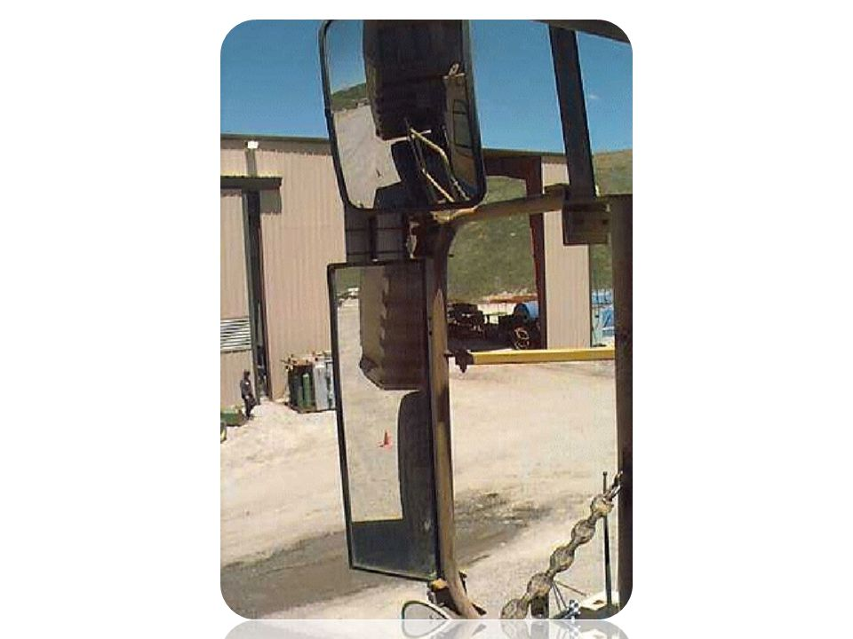 Here are the mirrors that the truck drivers use on the left side of the truck.