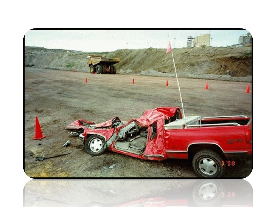 In this fatal mine accident scene you're looking at the foreman's red pickup truck.