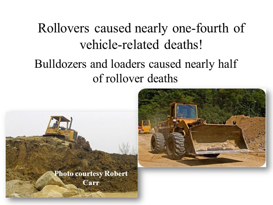 Rollovers caused nearly one-fourth of vehicle-related deaths!