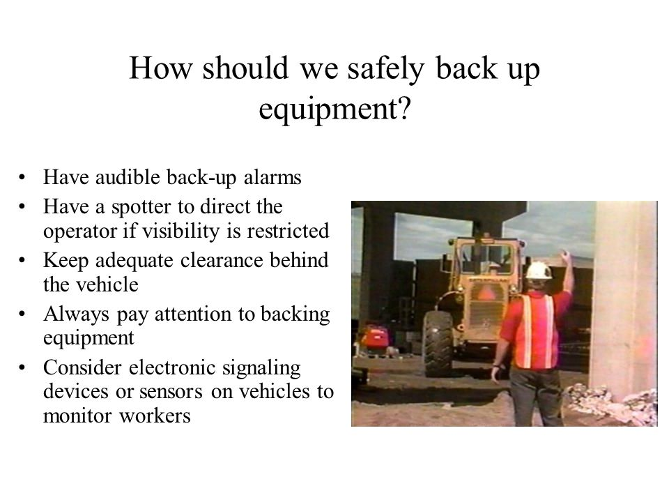 How should we safely back up equipment