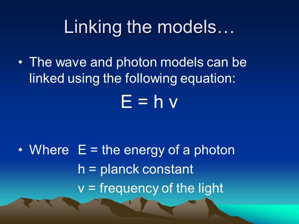 Linking the models… E = h v
