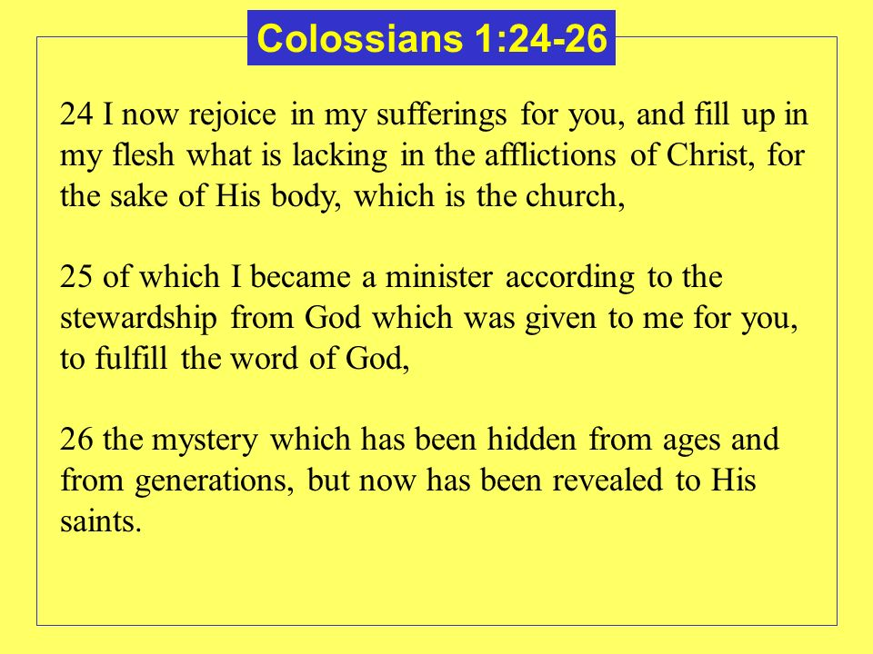 Colossians 1:24-26