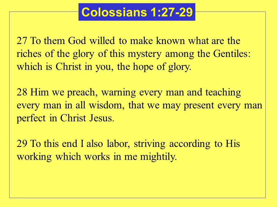 Colossians 1:27-29