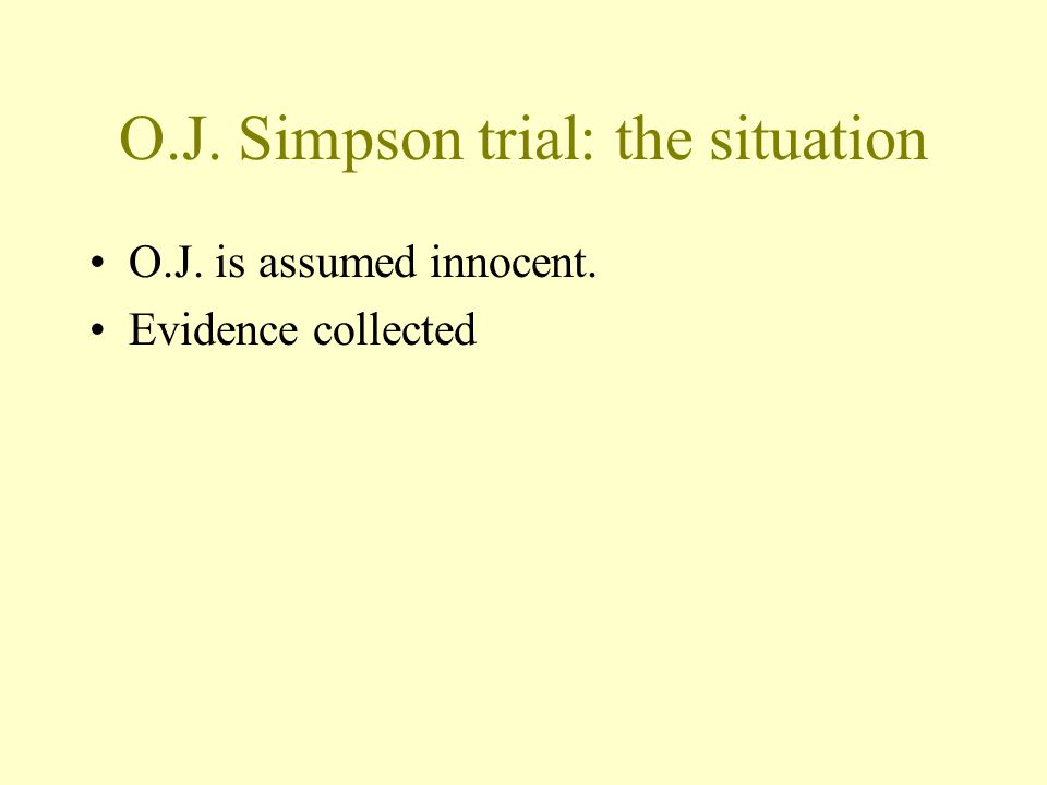 O.J. Simpson trial: the situation