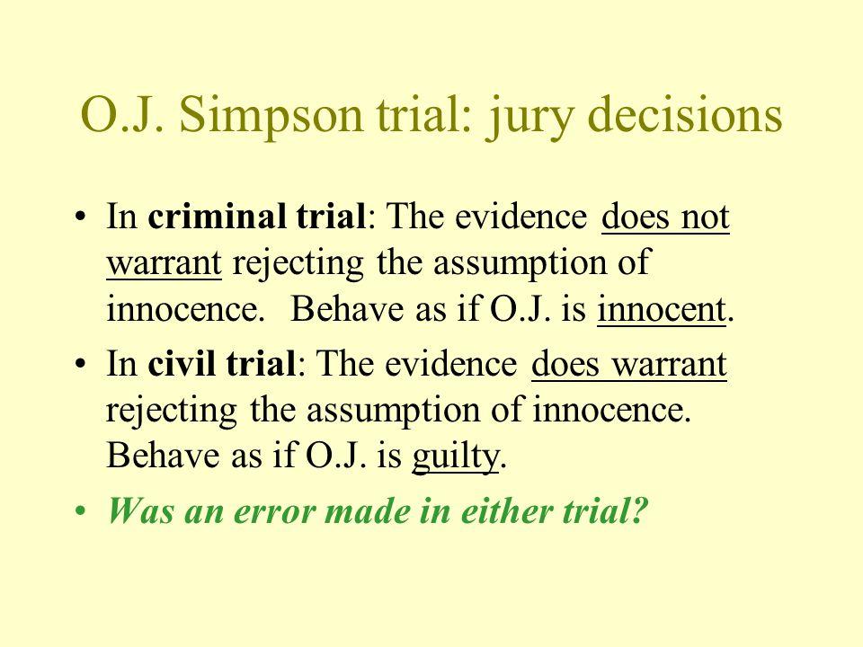 O.J. Simpson trial: jury decisions