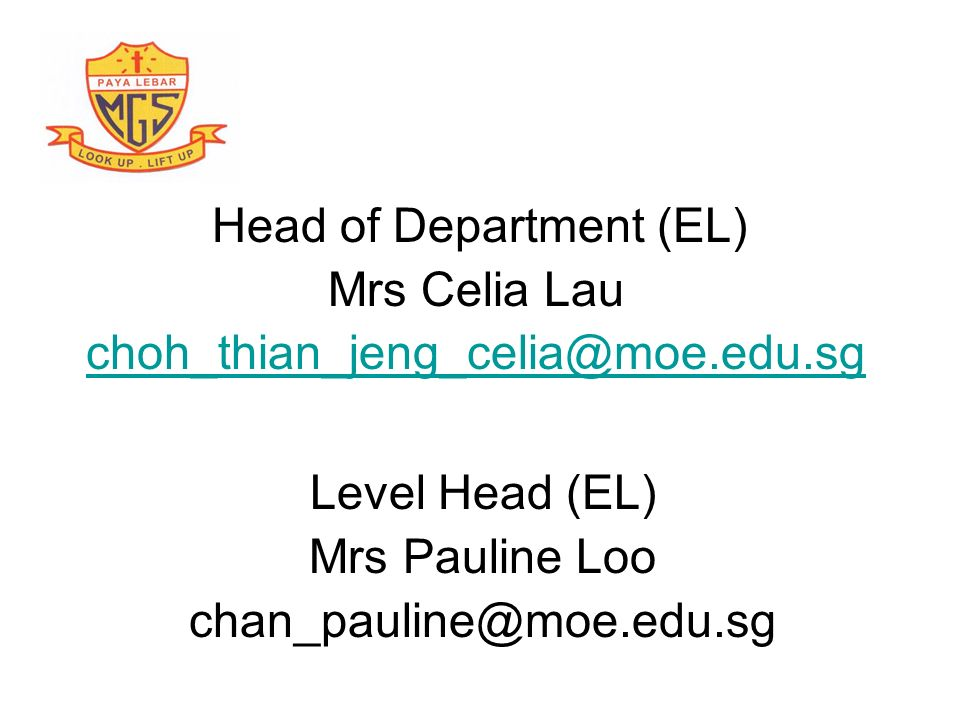 Head of Department (EL)