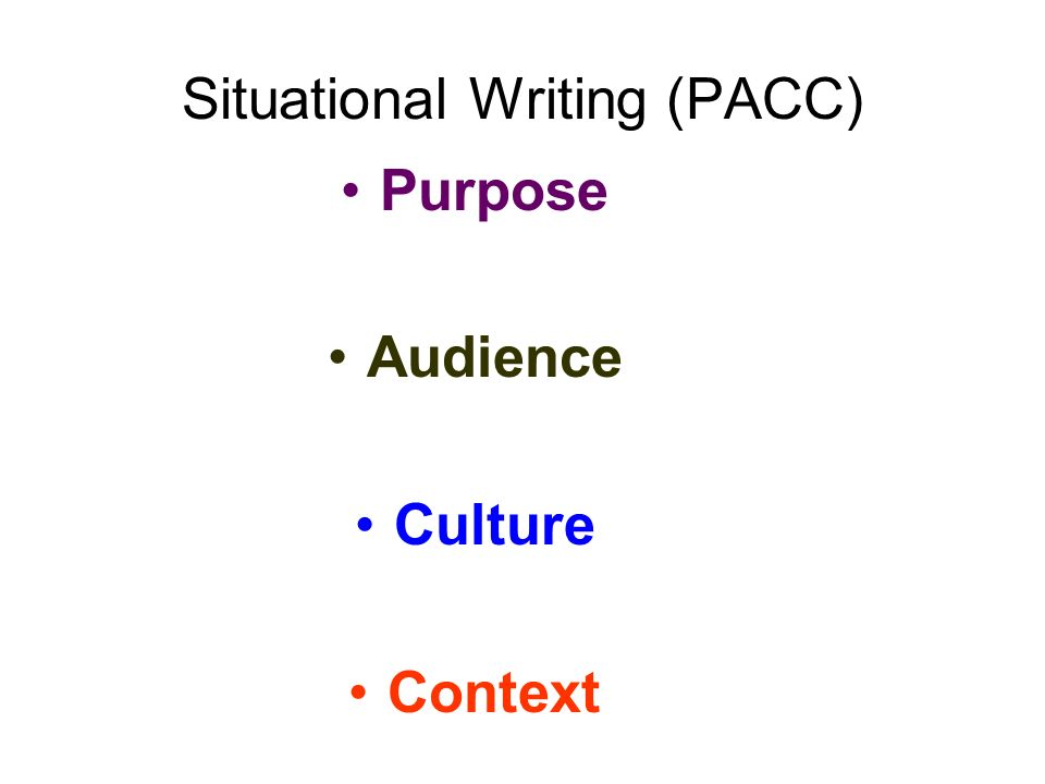 Situational Writing (PACC)