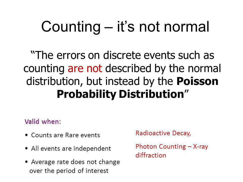 Counting – it's not normal