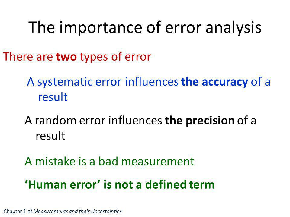 The importance of error analysis