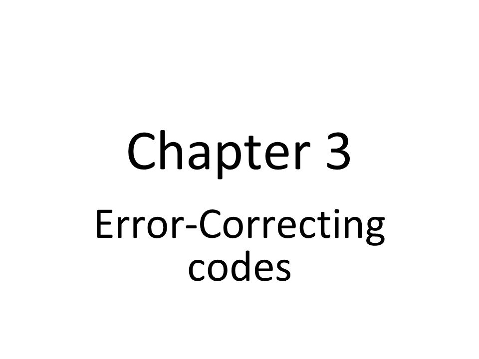 Error-Correcting codes