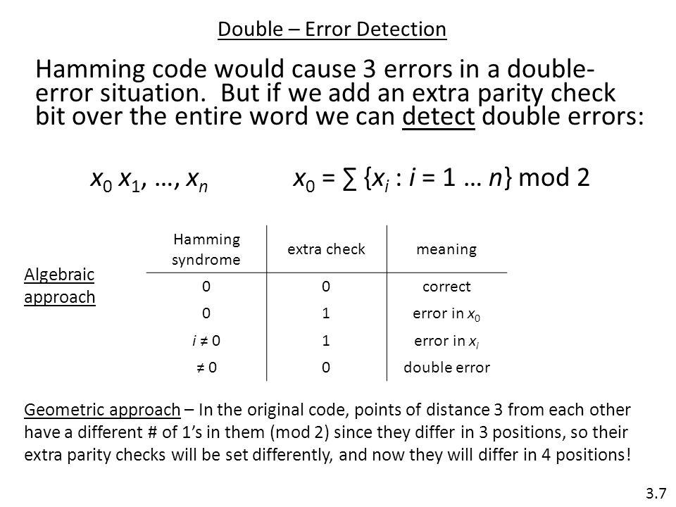Double – Error Detection