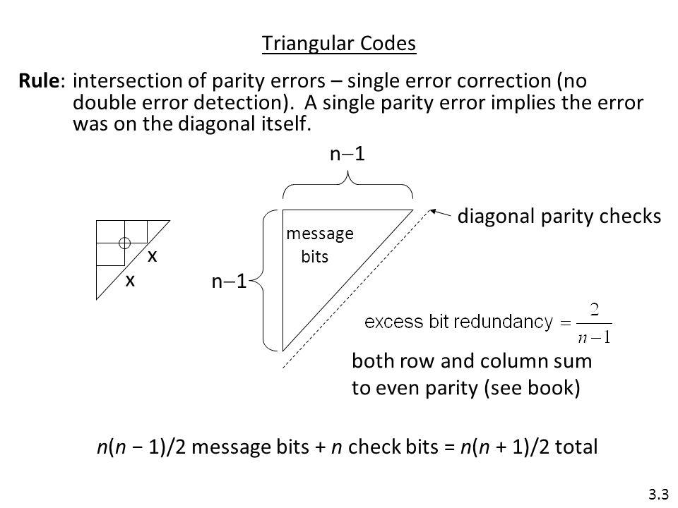 diagonal parity checks