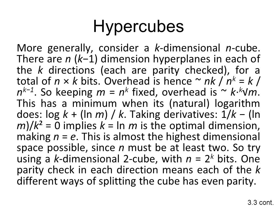 Hypercubes