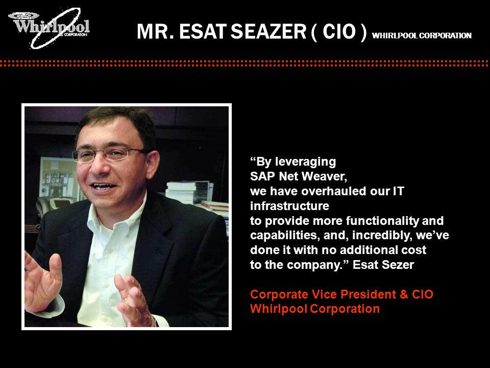 MR. ESAT SEAZER ( CIO ) WHIRLPOOL CORPORATION
