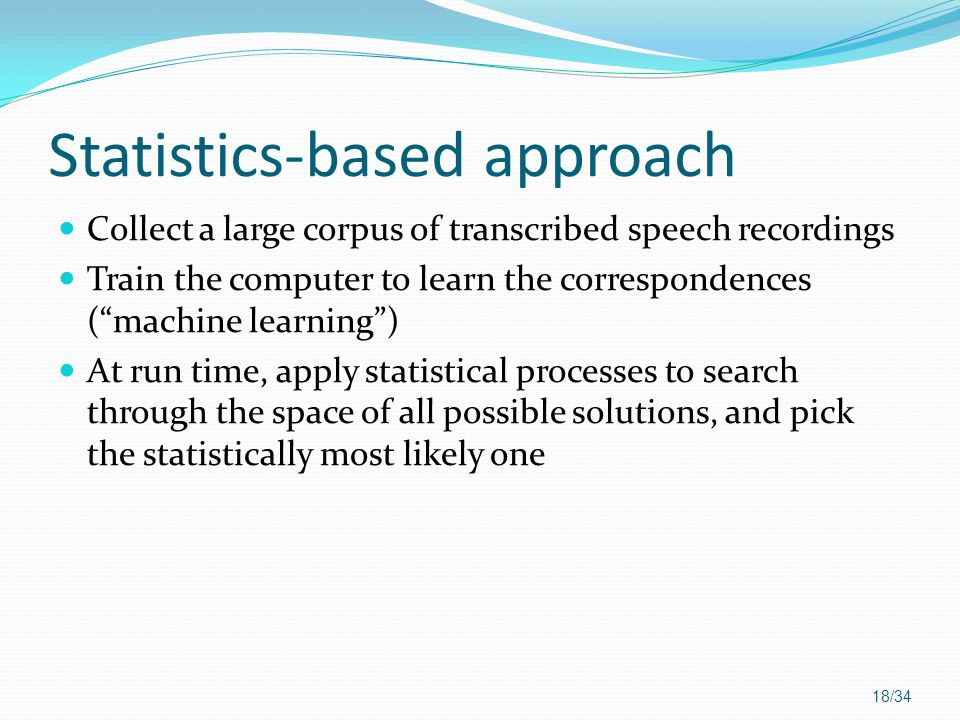 Statistics-based approach