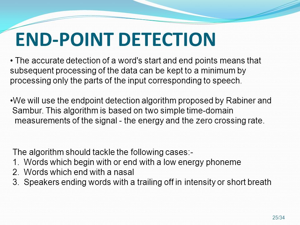 END-POINT DETECTION