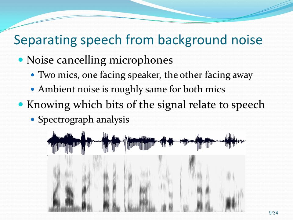Separating speech from background noise