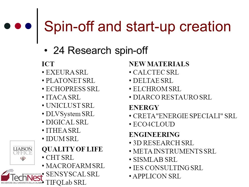 Spin-off and start-up creation