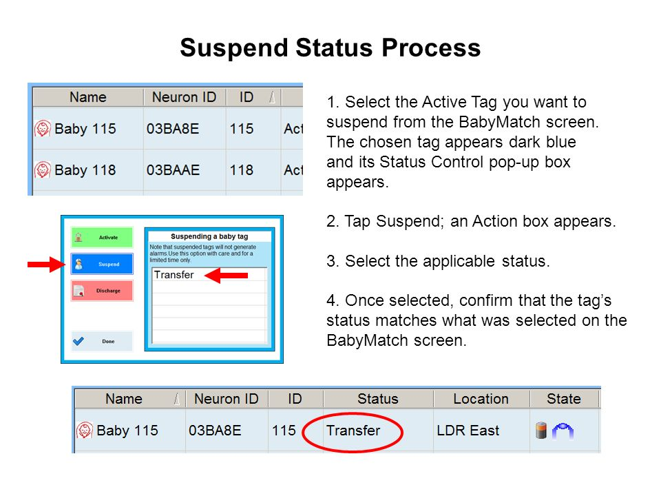 Suspend Status Process