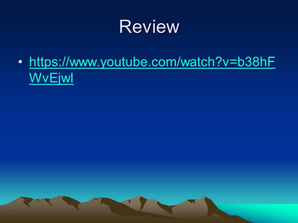 Review https://www.youtube.com/watch v=b38hFWvEjwI