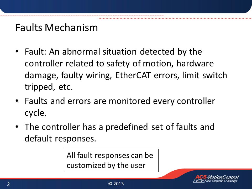 Faults Mechanism