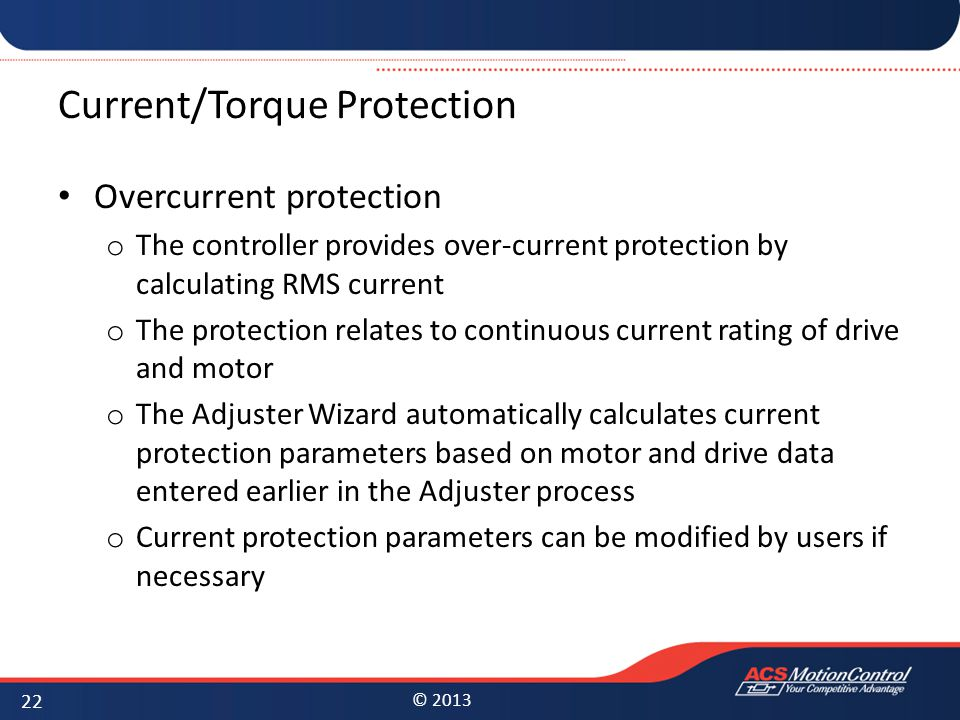 Current/Torque Protection