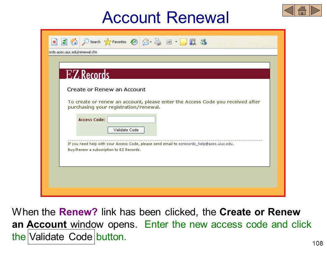 Account Renewal