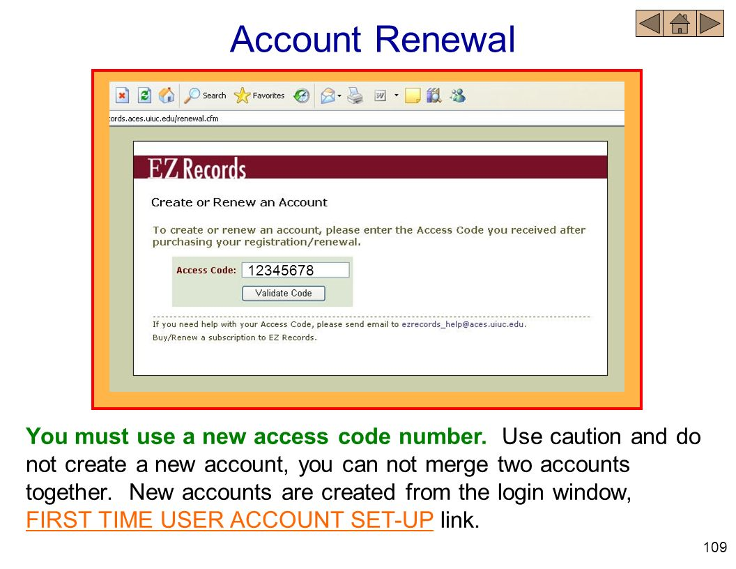 Account Renewal 12345678.