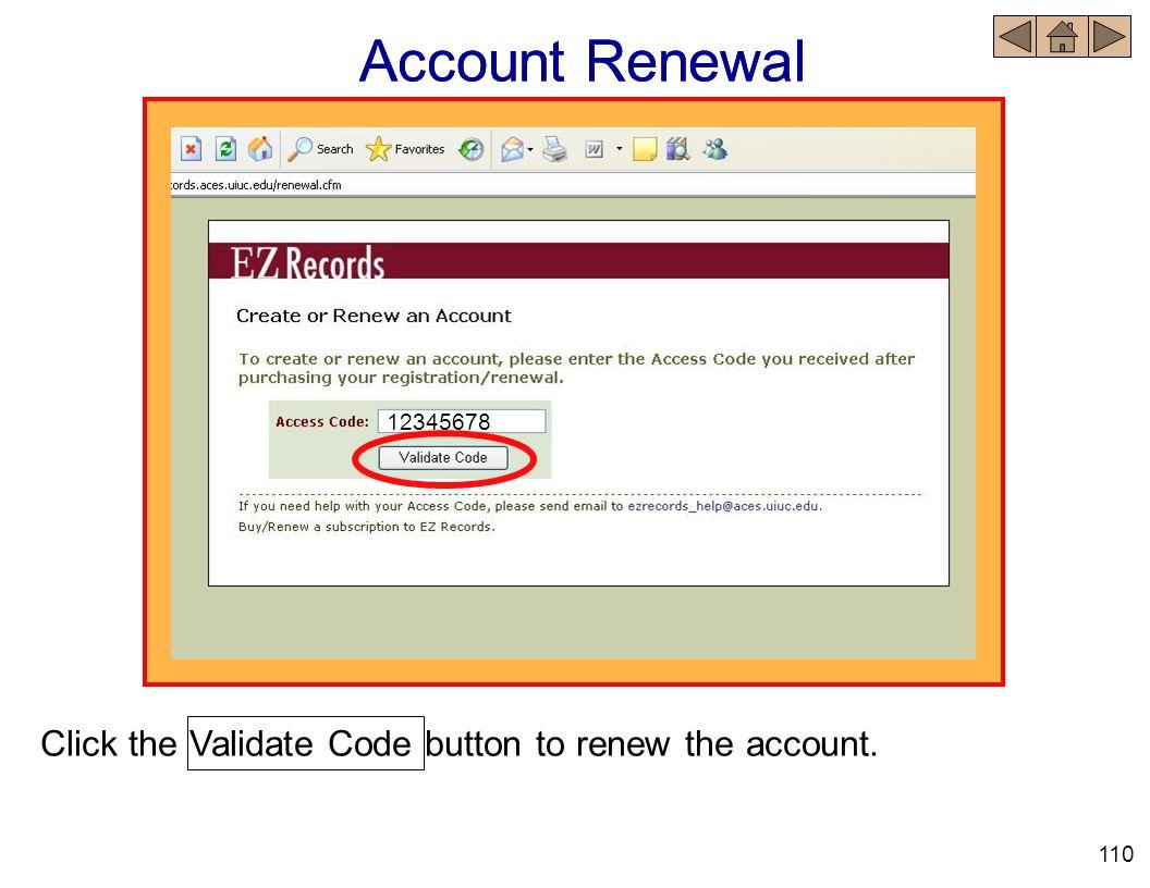 Account Renewal Account Renewal