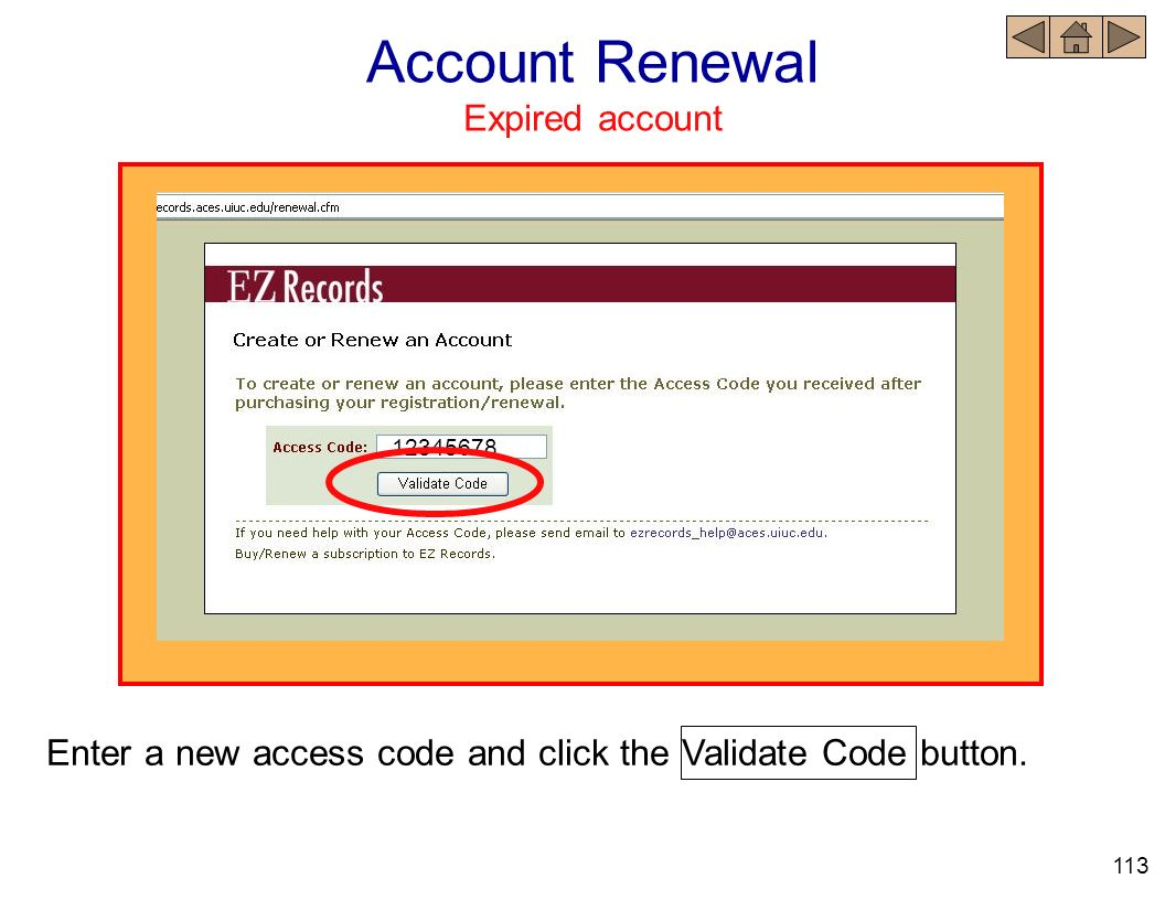 Account Renewal Expired account