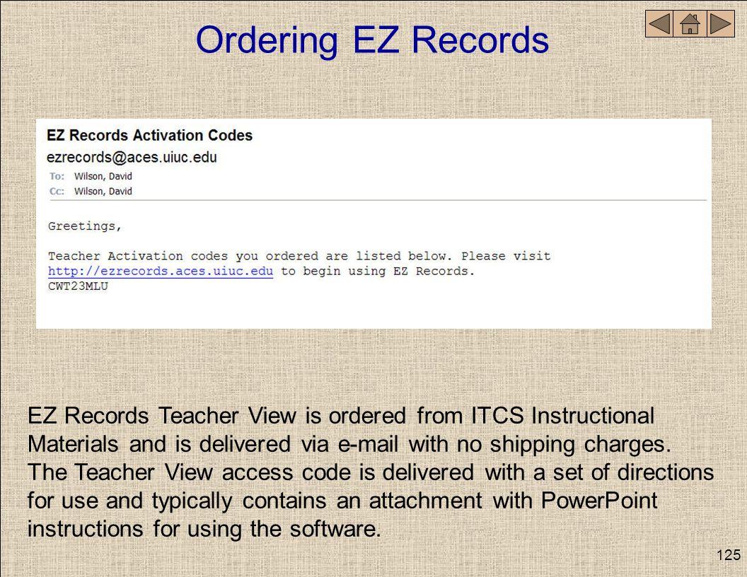 Ordering EZ Records