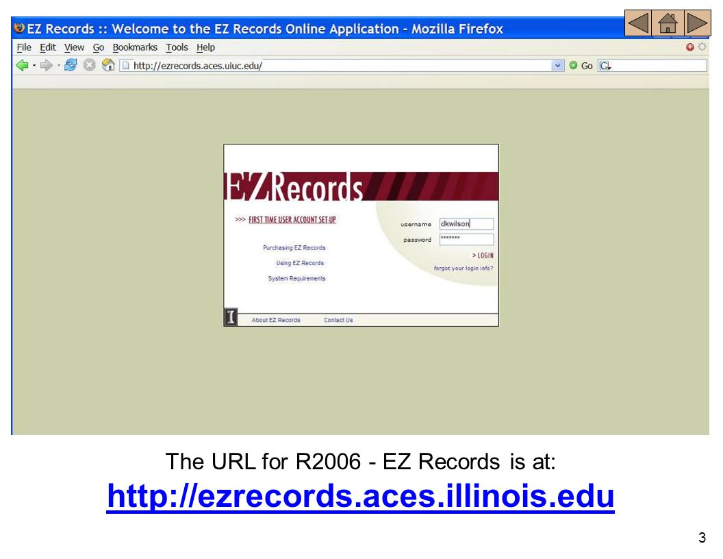 The URL for R2006 - EZ Records is at: http://ezrecords. aces. illinois