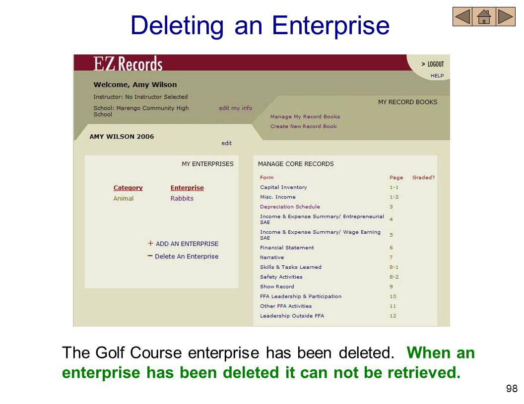 Deleting an Enterprise