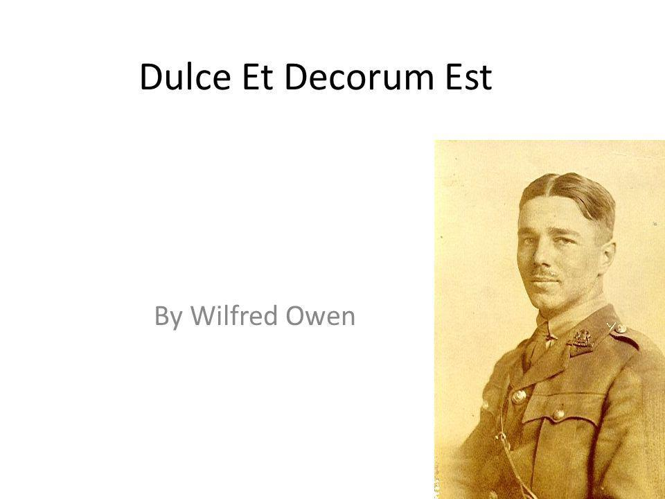 wilfred owen war poems Some of his 1918 poems 'insensibility', 'strange meeting', 'spring offensive' and others – are among the greatest poems about war in the language in spring 1918 owen was sent to a camp at ripon to get fit for active service.