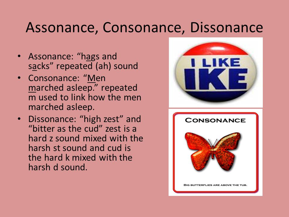 Assonance, Consonance, Dissonance