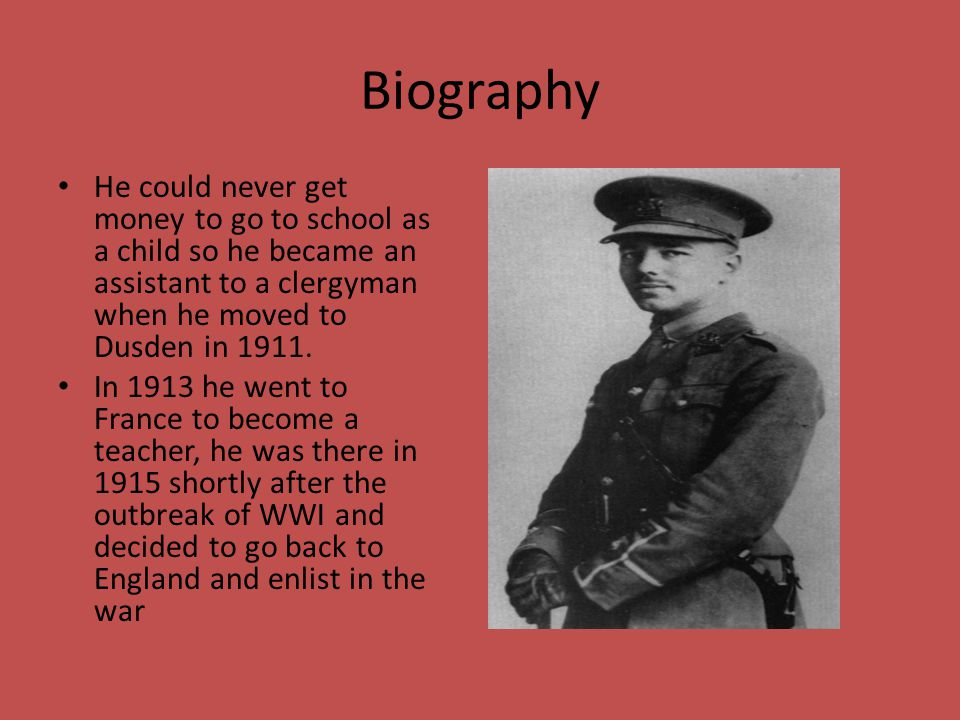 Biography He could never get money to go to school as a child so he became an assistant to a clergyman when he moved to Dusden in 1911.