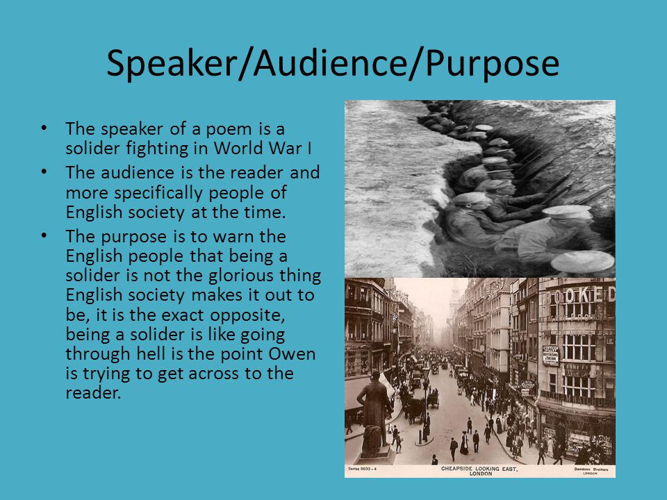 Speaker/Audience/Purpose