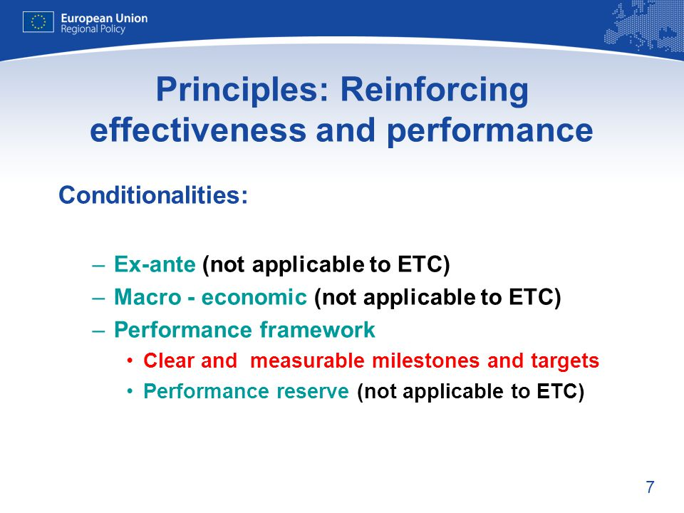 Principles: Reinforcing effectiveness and performance