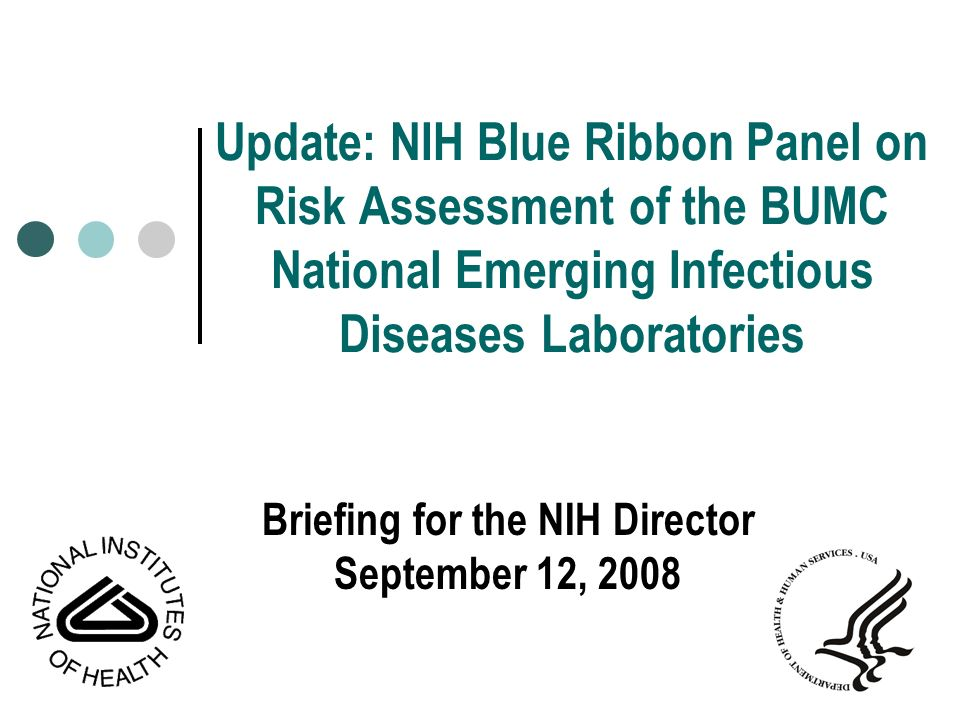 Briefing for the NIH Director September 12, 2008