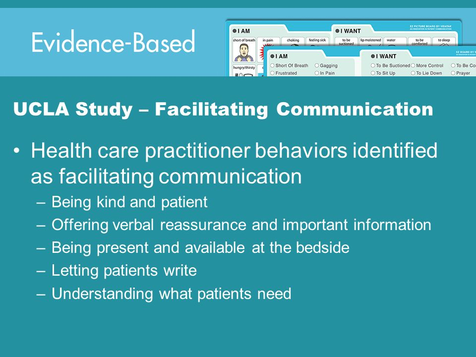 UCLA Study – Facilitating Communication
