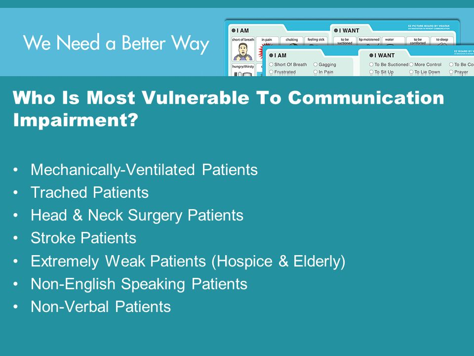 Who Is Most Vulnerable To Communication Impairment